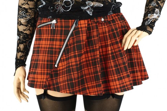 Gothic Fashion Three Color Mini Rock rot XS-XXL | AnUne- For You
