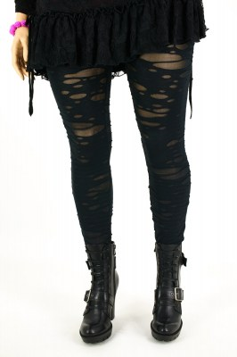 Gothic Broken Mash Leggings schwarz | Anune For You